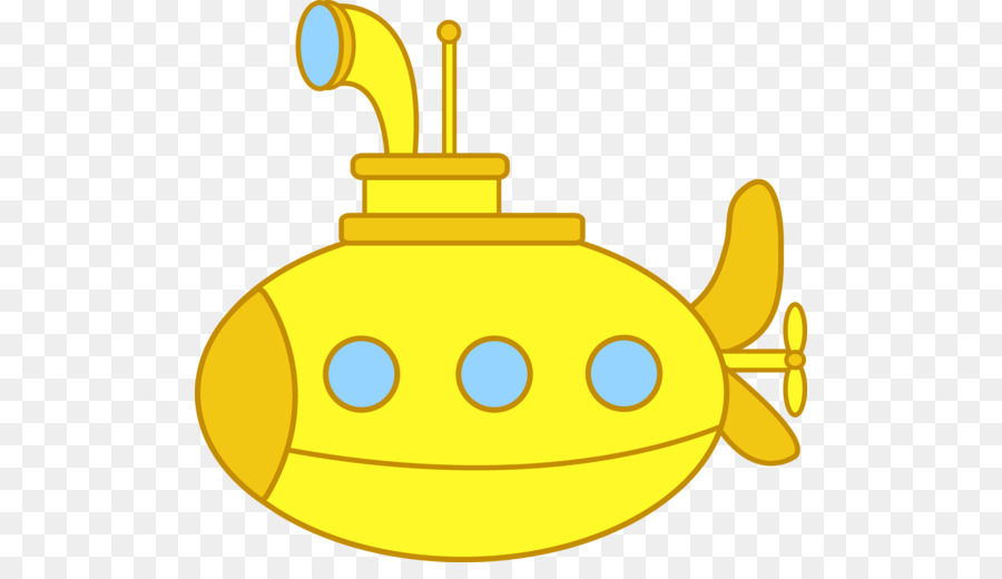 Yellow clip art cartoon. Submarine clipart
