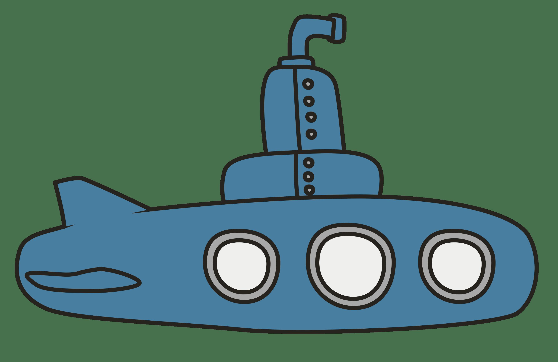 Submarine clipart simple, Submarine simple Transparent ...