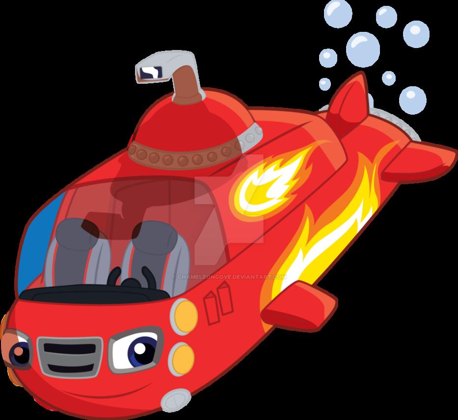 Blaze by chameleoncove on. Submarine clipart transportation