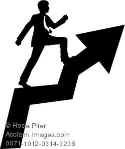 Success clipart. Image of businessman climbing