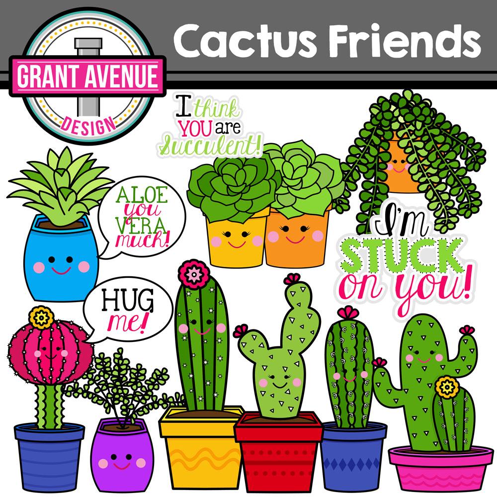Succulent clipart. Grant avenue design cactus