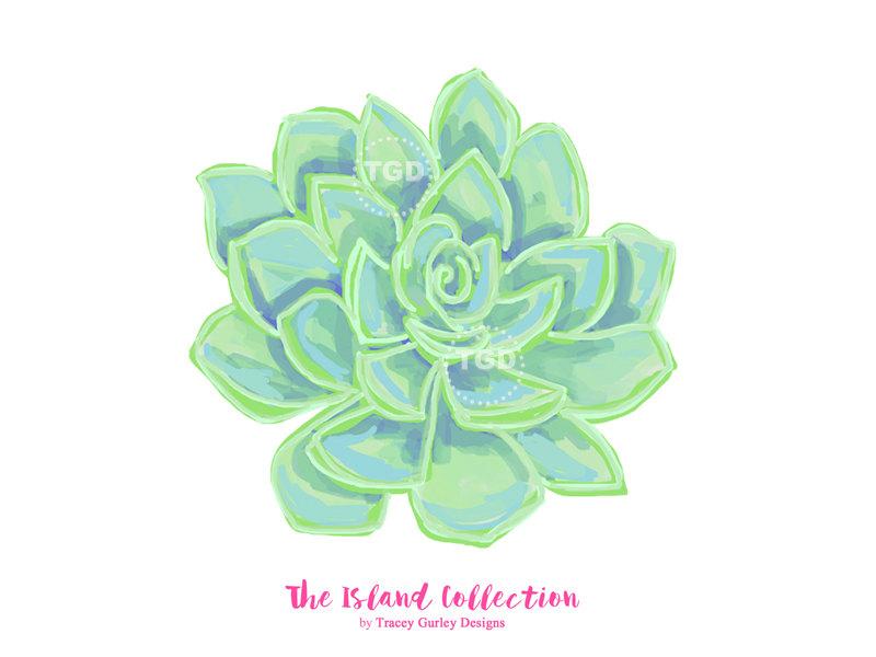 Succulent clipart. Clip art watercolor cactus