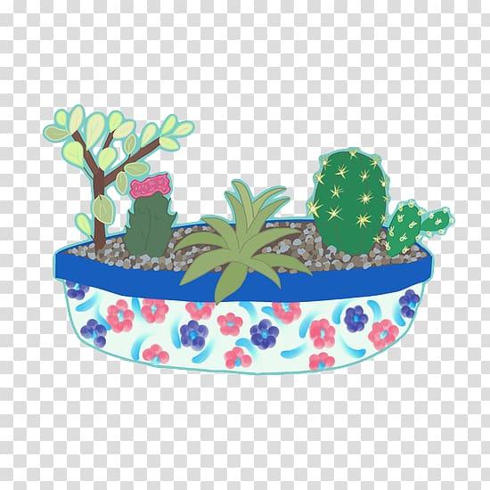 Succulent clipart light green. Cactaceae plant header cartoon