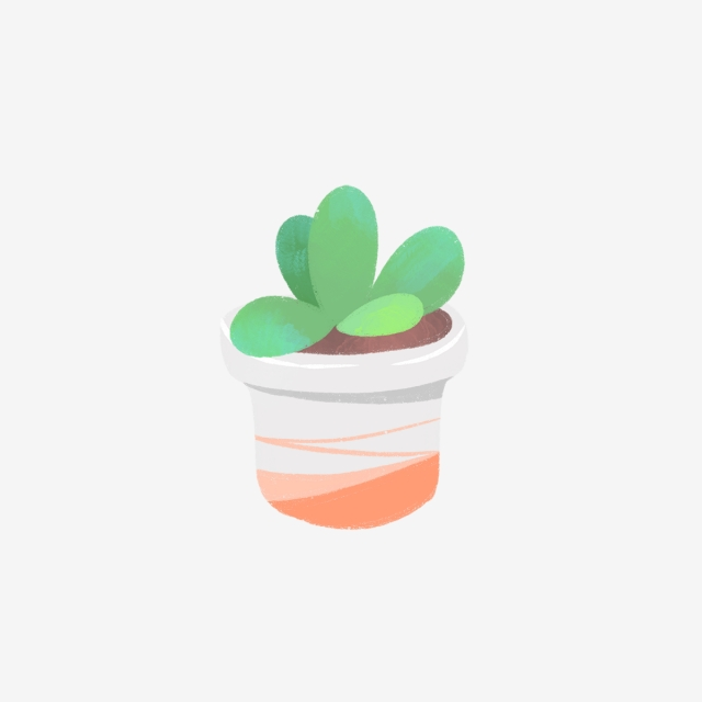 Hand drawn cute in. Succulent clipart round