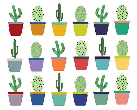 Sale off cactus clip. Succulent clipart scrapbooking supply
