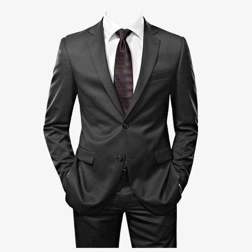 Mens suits men black. Suit clipart