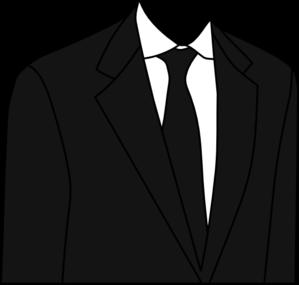 Black clip art at. Suit clipart