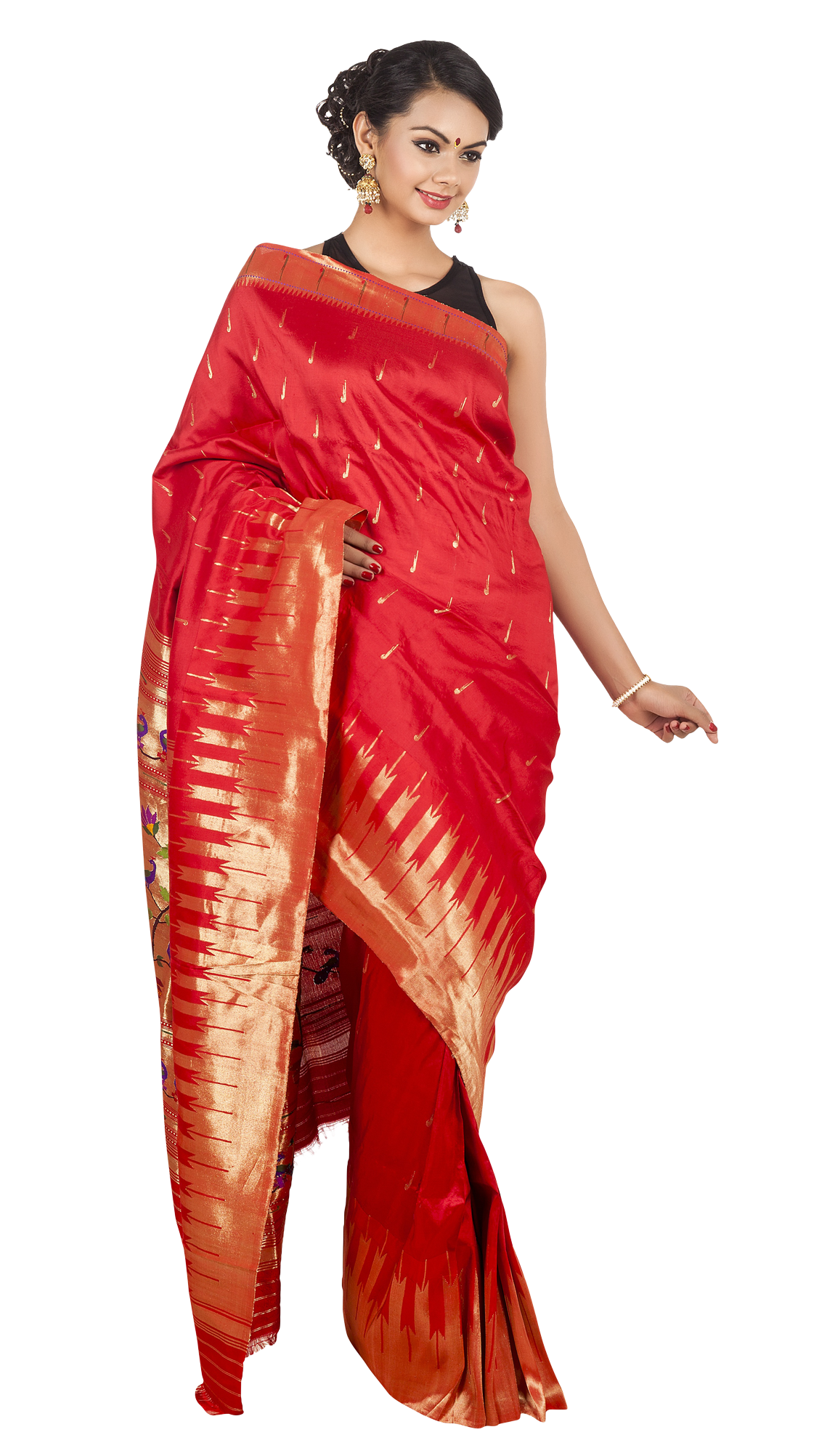 Wedding saree png transparent. Suit clipart lady suit
