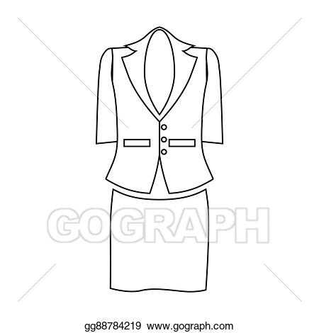 Drawing ladies for business. Suit clipart lady suit