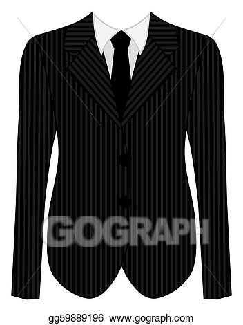 Suit clipart pinstripe suit. Mans business black stock