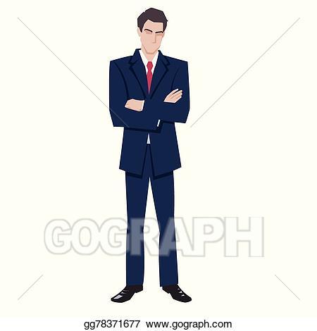 Suit clipart. Vector art man in