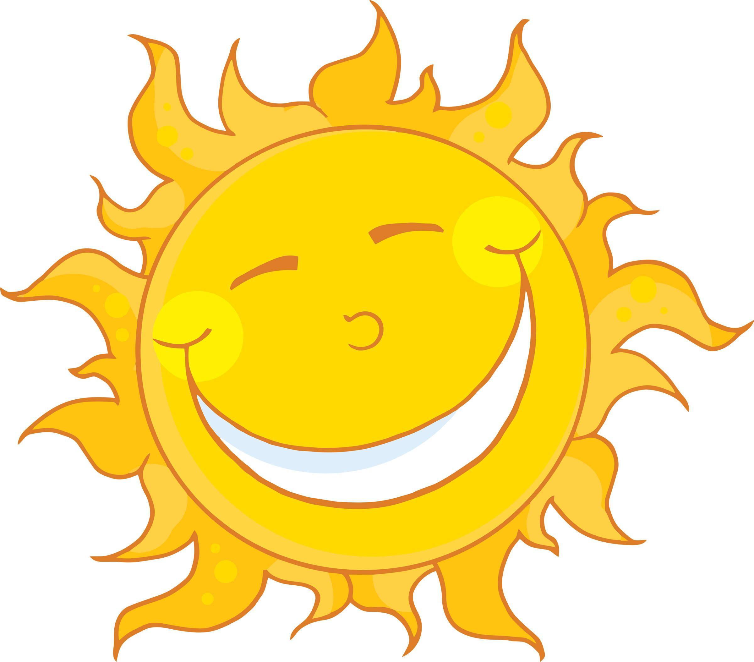 Sun clipart. Sunshine happy