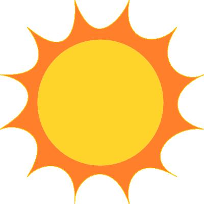Sun clipart. Sunshine free public domain