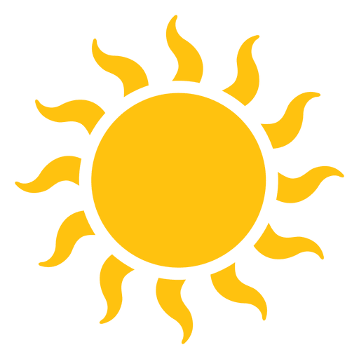 Large wavy beams transparent. Sun icon png