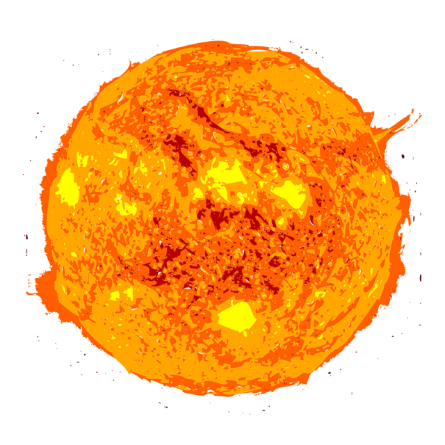Sun vector png. Burn red and psd