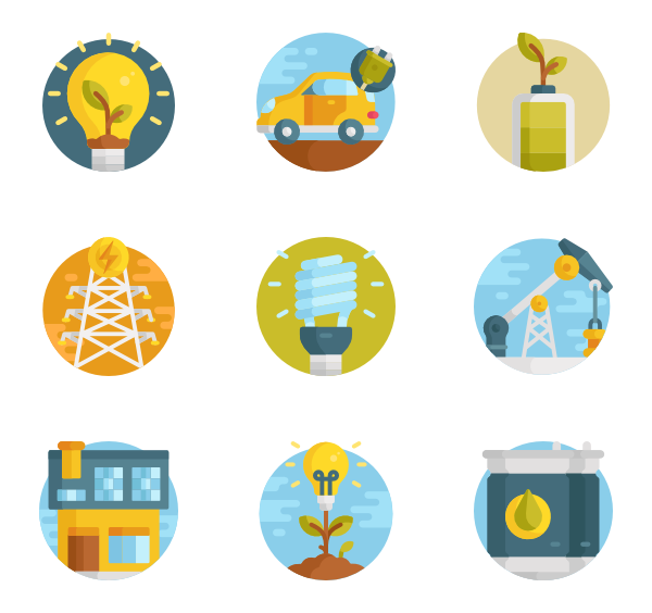 Icons free renewable energy. Sun vector png