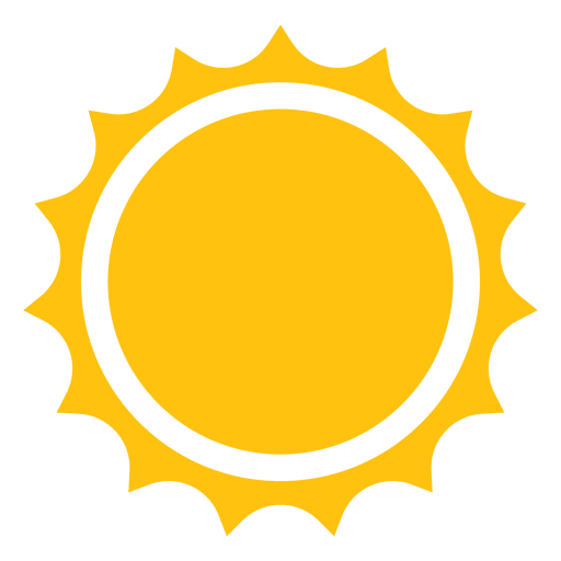Sharp rays icon transparent. Sun vector png