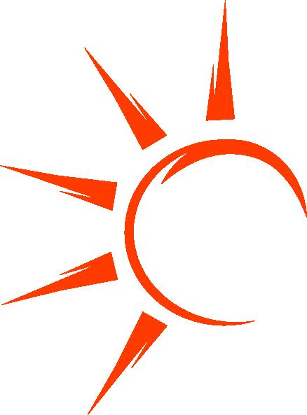 Half clip art at. Sun vector png
