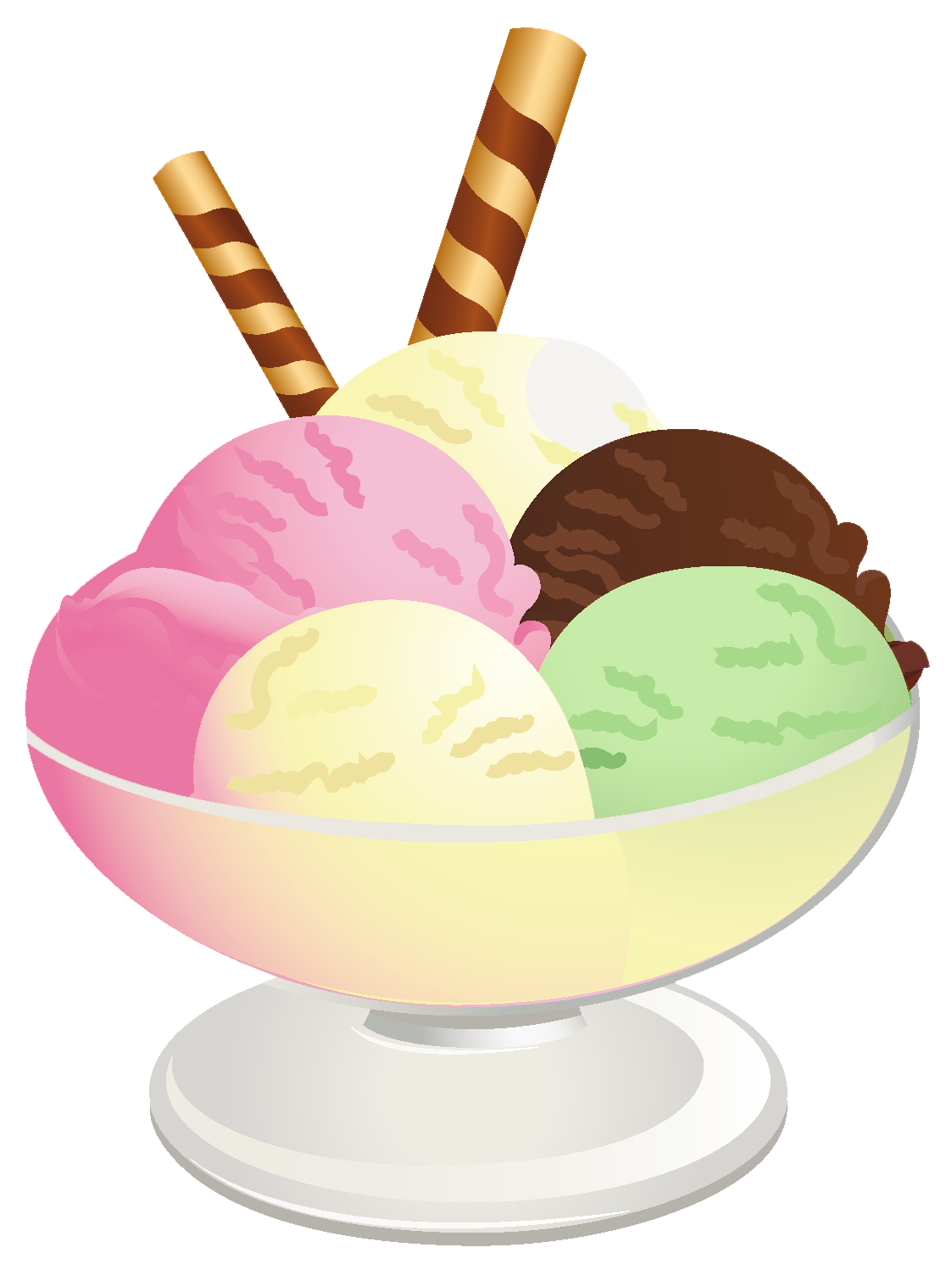 Ice cream sundae png. Doughnut clipart sugary food