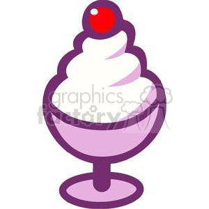 Sundae clipart cherry on top. Cartoon ice cream with
