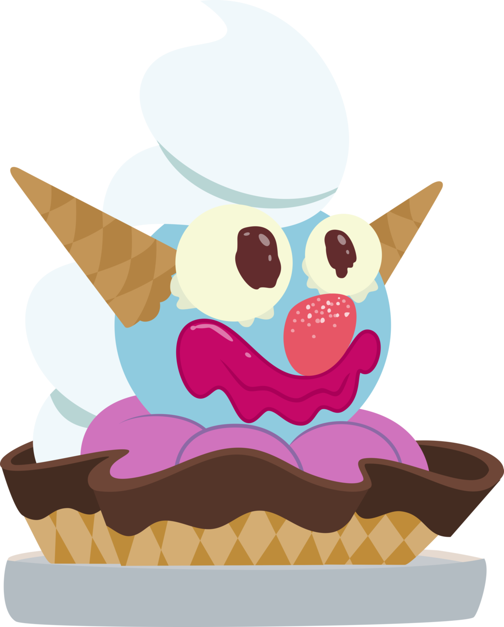 Sundae clipart vector. Clown by comeha on