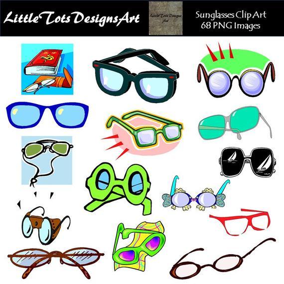 Sunglasses clipart clip art. Glasses digital novelty summer