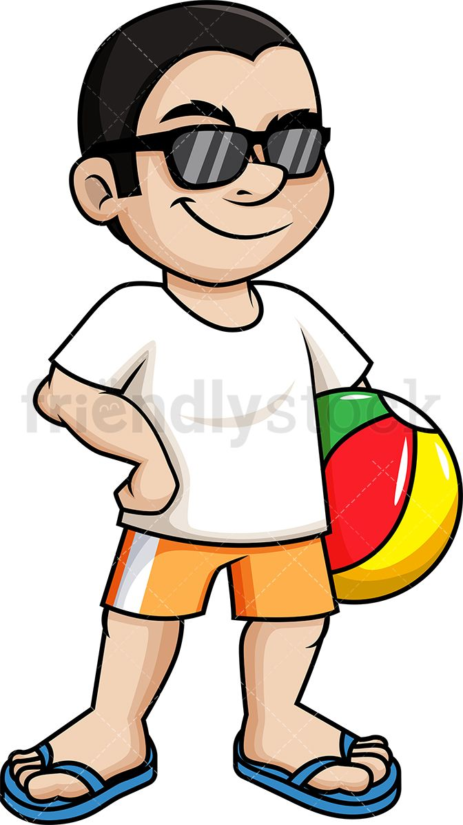 Sunglasses clipart cool guy. Man holding beach ball