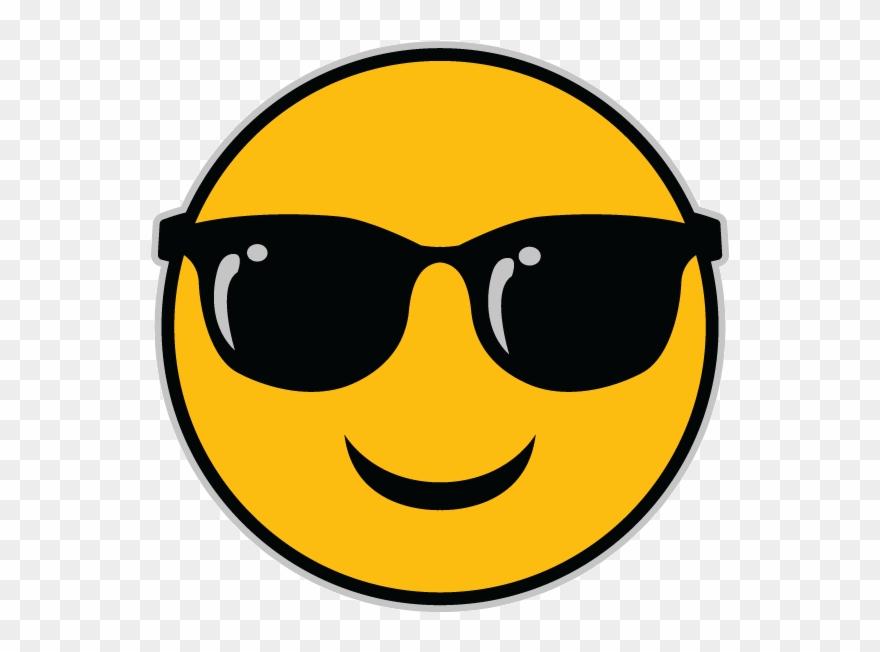 Sunglasses clipart emoticon. The emoji with glasses