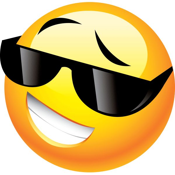 Sunglasses clipart emoticon. Smiley faces free download