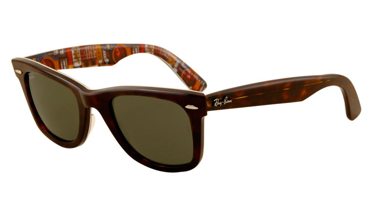 Black wayfarers original large. Sunglasses clipart glass ray ban