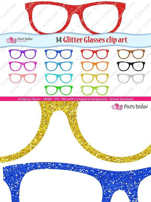 Sunglasses clipart glitter. Colorful glasses objects best