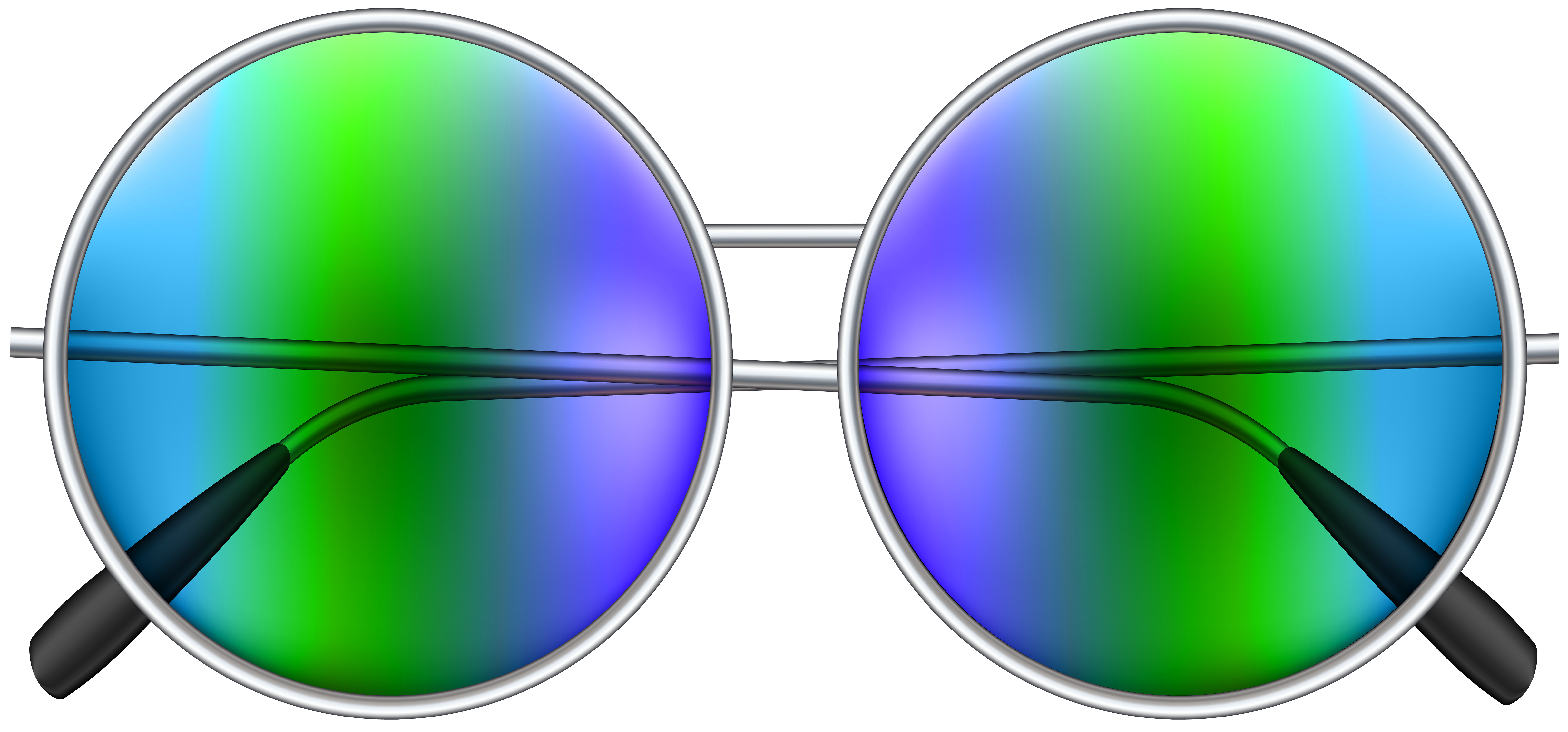 Sunglasses clipart green. Round png clip art