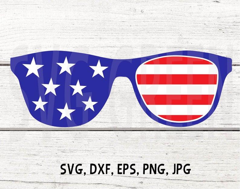 Sunglasses clipart patriotic. American flag svg th