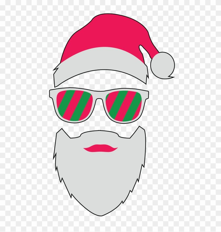 Glasses pocket size face. Sunglasses clipart santa