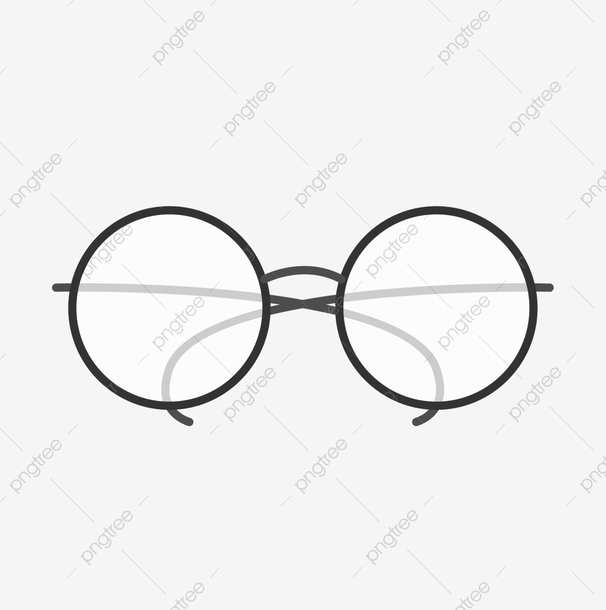 Sunglasses clipart simple. Hand painted cartoon round