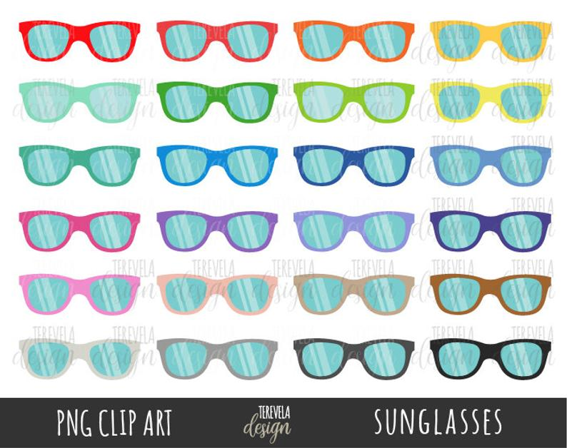 Summer commercial use color. Sunglasses clipart small