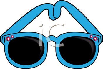 Clip art image description. Sunglasses clipart teal