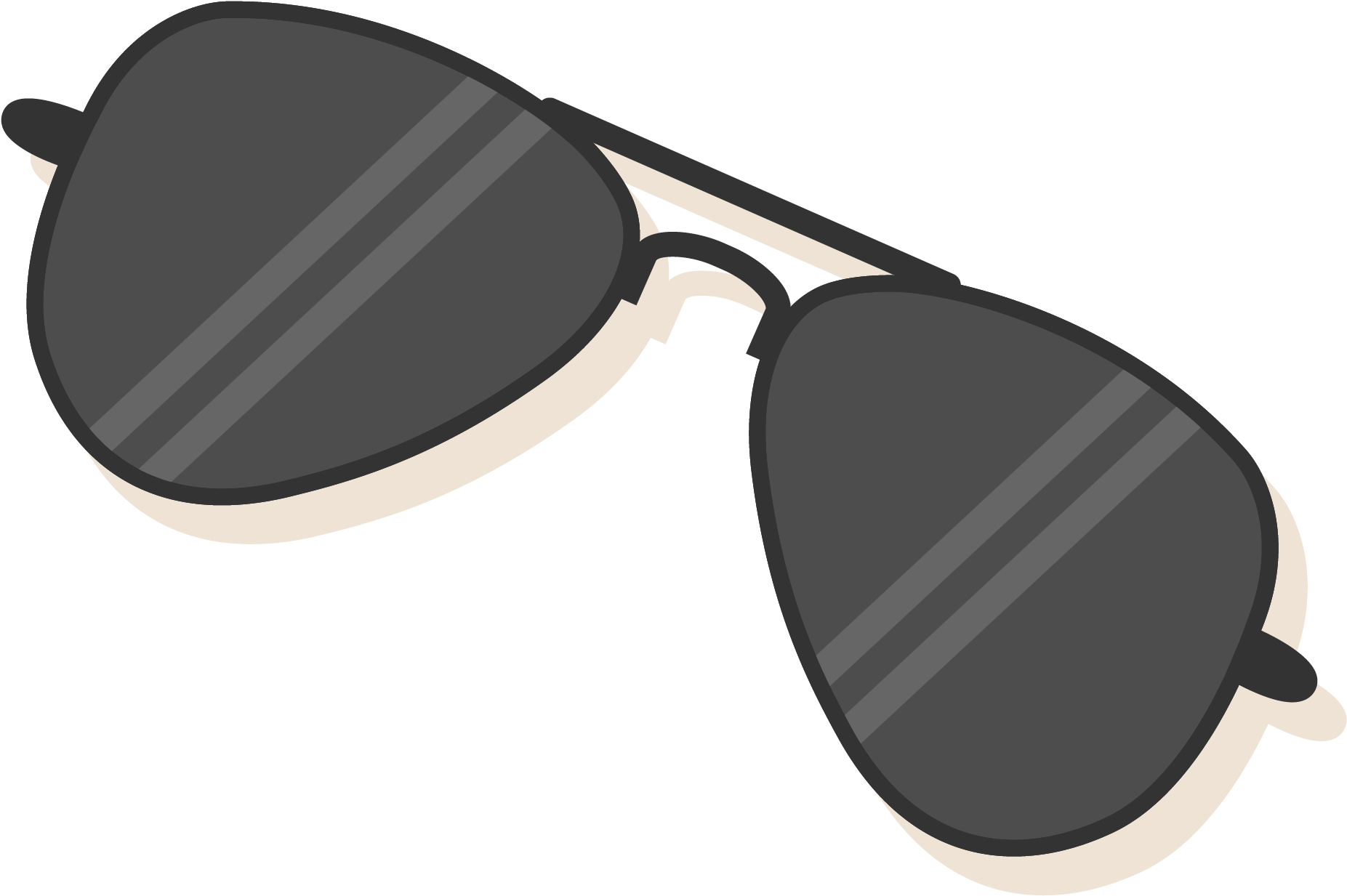 Sunglasses clipart transparent background. Cartoon with a