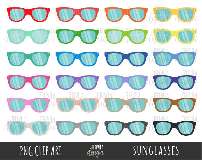 Sunglasses clipart tropical. Summer commercial use color