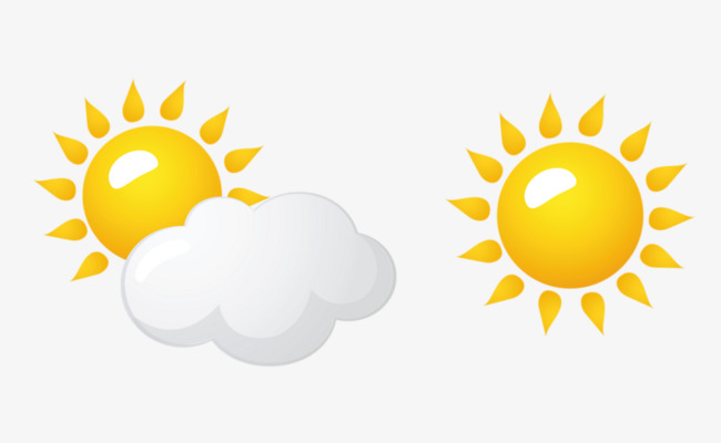 Sunny clipart. Cloudy weather forecast day
