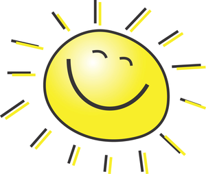 Sunny clipart. Microsoft face free images