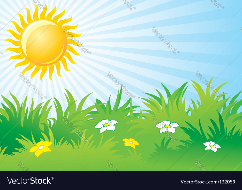 Day portal . Sunny clipart background