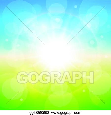 Sunny clipart background. Vector stock spring illustration