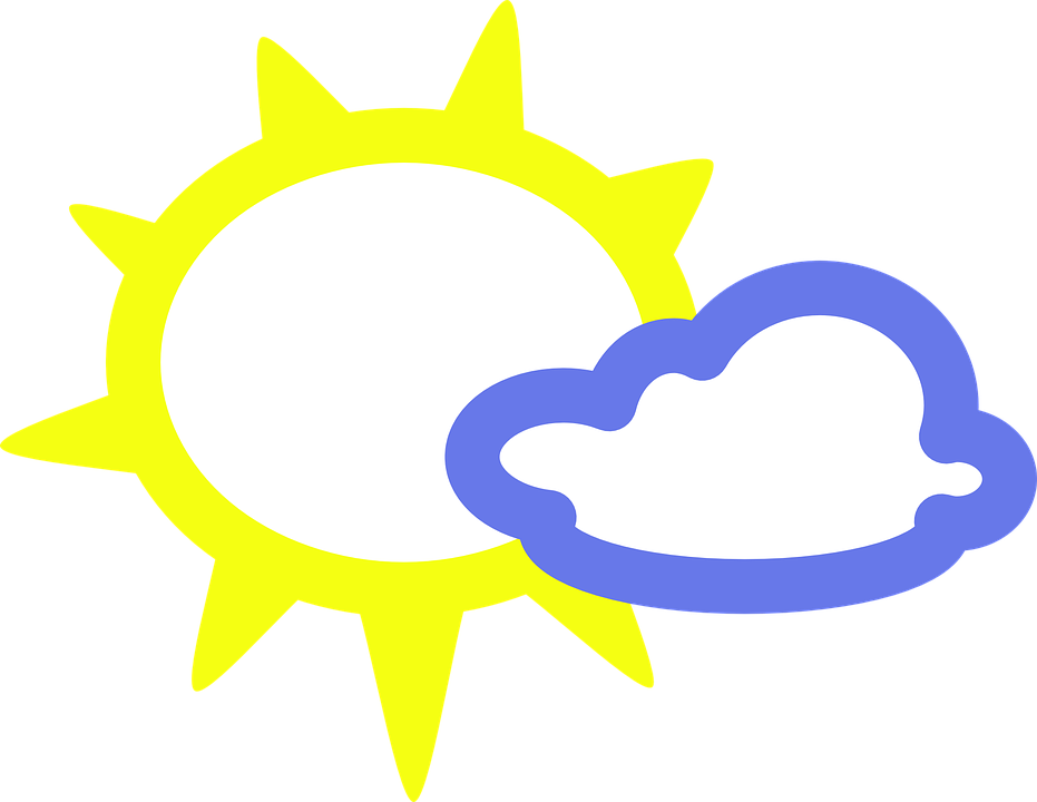 Day shop of library. Sunny clipart blue