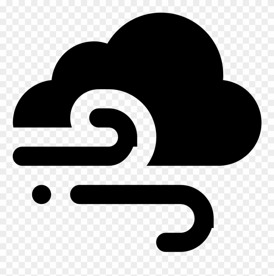 Icon pinclipart . Windy clipart climate weather