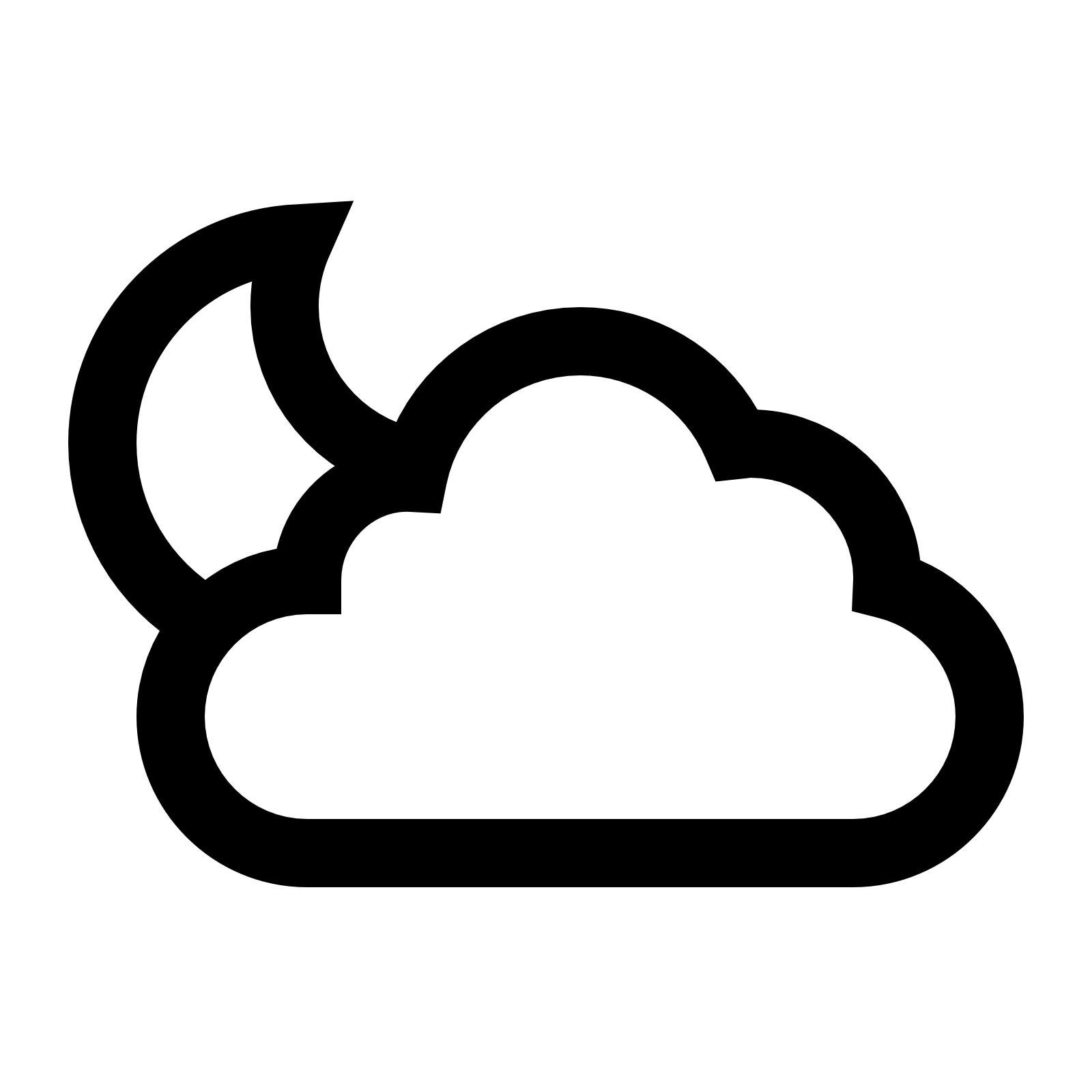 Night partly cloudy pencil. Sunny clipart clip art