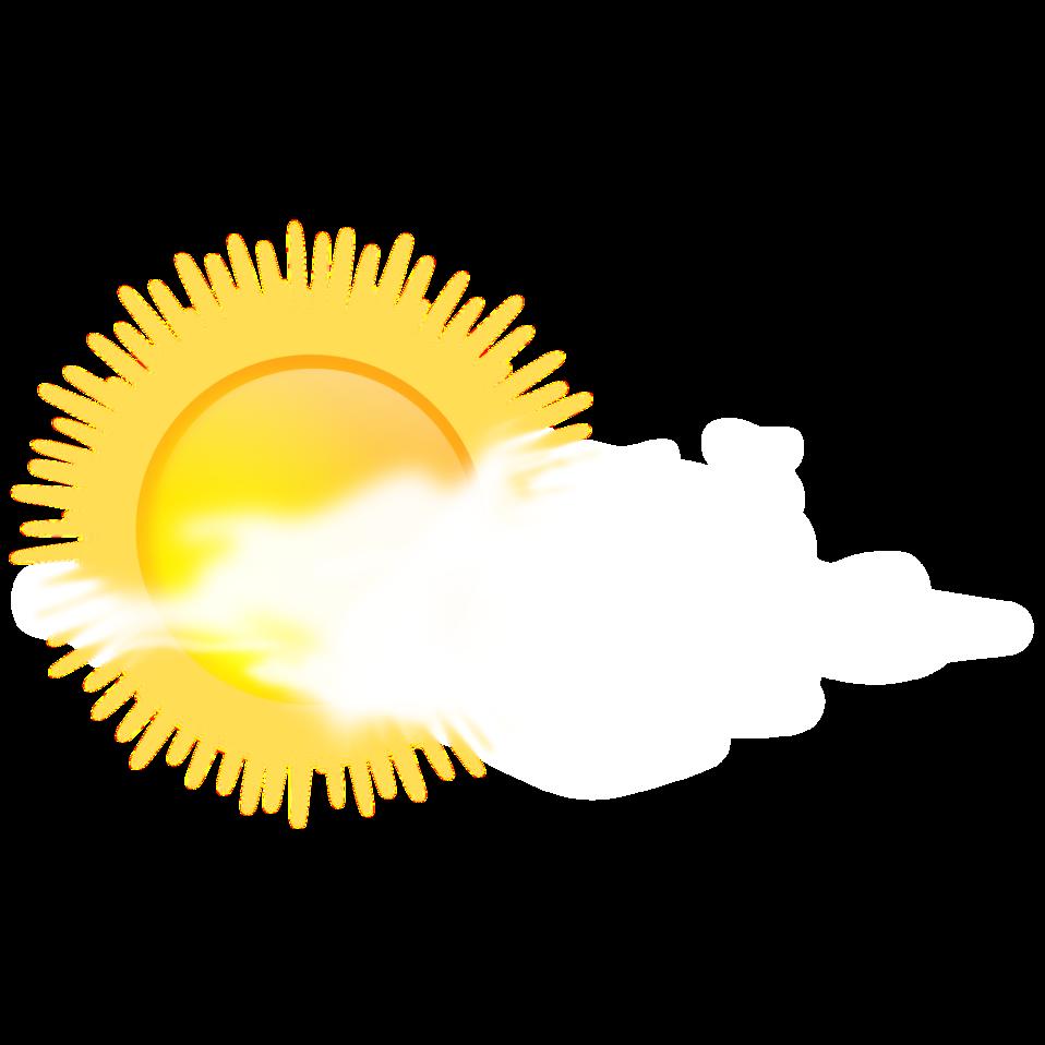 Public domain clip art. Sunny clipart cloudy