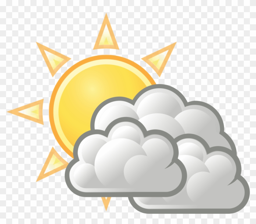 Weather forecast symbol partly. Sunny clipart cloudy