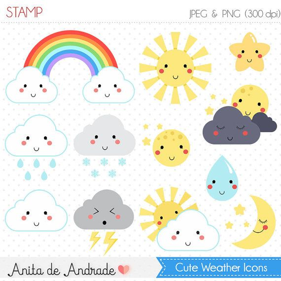 Weather sun icons clip. Sunny clipart cute