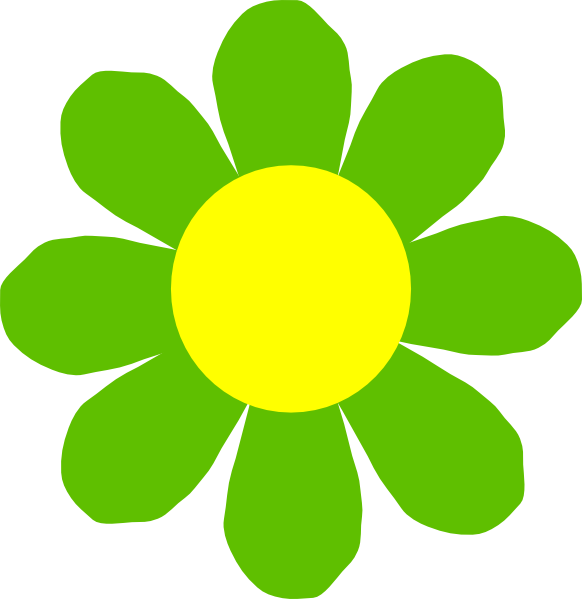 Flower clip art at. Sunny clipart green